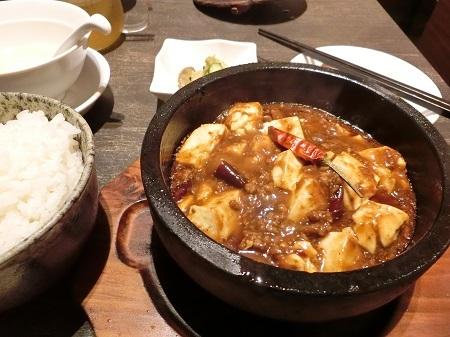 ロンフーダイニングの麻婆豆腐定食