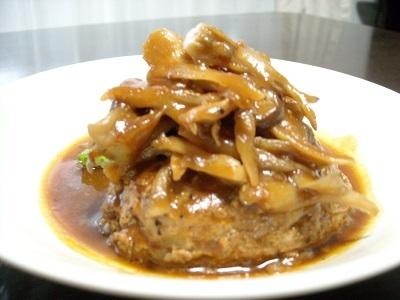 舞茸のデミグラスハンバーグ