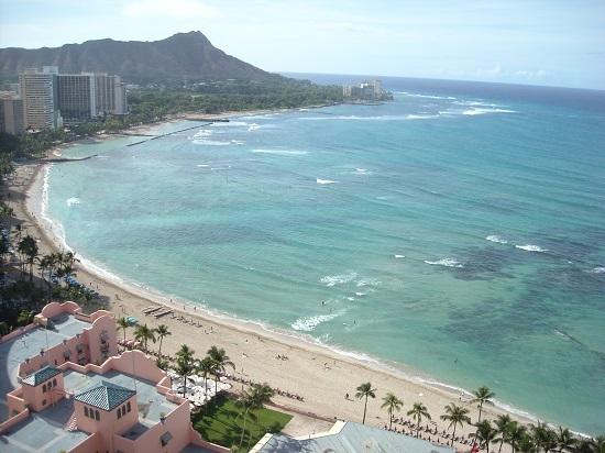 ハワイ シェラトンワイキキ29階からの眺め