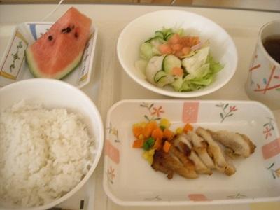入院2日目昼食