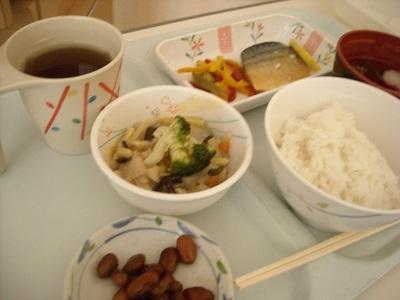 入院3日目 病院の昼食