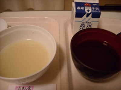 おも湯と味噌スープ