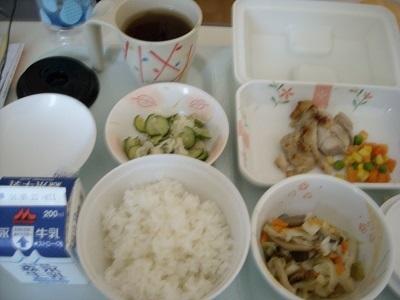 入院中の昼食
