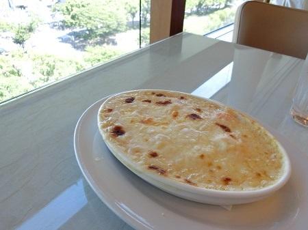 モッツァレラチーズの海老ドリア