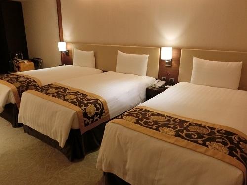 タイペイシティホテルのトリプルルーム
