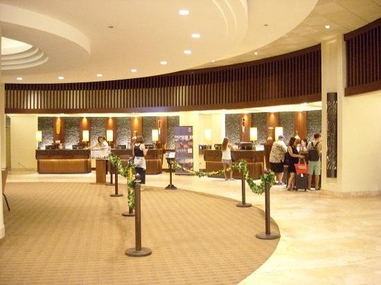 シェラトンワイキキホテルのフロント
