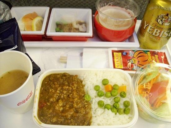 JAL ホノルル復路 機内食