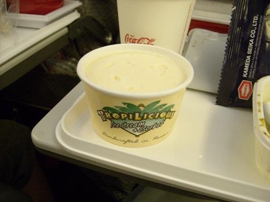 JAL 機内食 パイナップルアイス