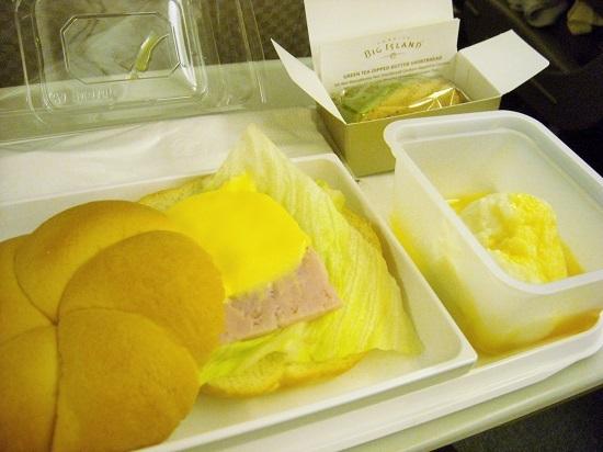 JAL ハワイ帰りの機内食