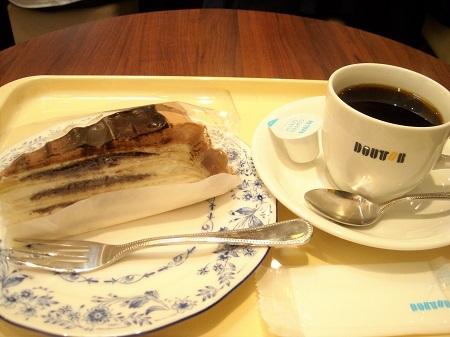 ドトールコーヒーのケーキセット