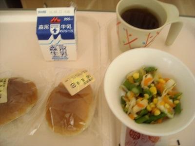入院3日目 病院の朝食